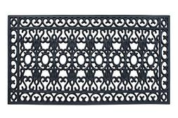 100% Rubber Beautifully Hand Finished Large Double Doormat S