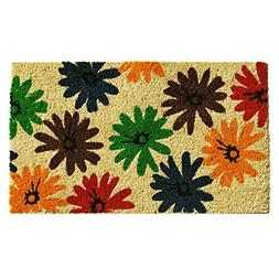 "Home & More 121371729 Colorful Daisies Doormat, 17"" x 29"" x"