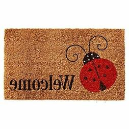"Home & More 121431729 Ladybug Welcome Doormat, 17"" x 29"" x 0"