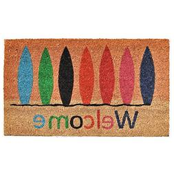 "Home & More 121771729 Surfboard Welcome Doormat, 17"" x 29"" x"