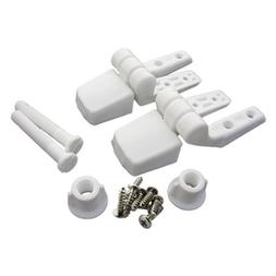 LASCO 14-1039 White Plastic Toilet Seat Hinge with Bolts and