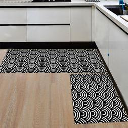 2PCS/Set Geometric Pattern Floor Mat Kitchen Area Rugs Carpe