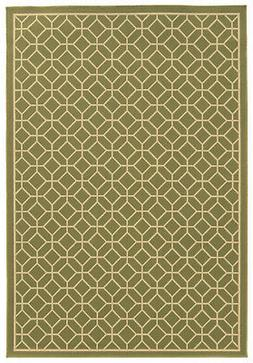 3'x6' Sphinx Geometric Green Circles Octagon 4771B Door Mat