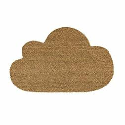 "32""L x 16""W Coir Door Mat Cloud Shaped"