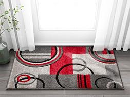 Well Woven 60010-DMT Door Mat Scatter Entry Mat Ruby Contemp