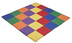 "ECR4Kids Softzone Patchwork Toddler Foam Play Mat, 58"" Squar"