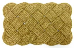 Iron Gate - Natural Jute Rope Woven Doormat 18x30 - Single P