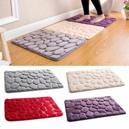 Absorbent Non-slip Cobblestone Mat Door Rug Kitchen Bathroom