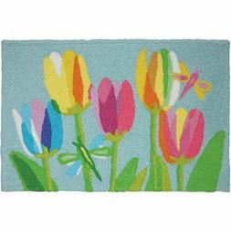 Accent Throw Rug Doormat Nautical Beach JELLYBEAN RUGS TULIP