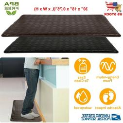 "Anti-Fatigue Floor Mat 30"" x 18"" Indoor Cushion Non-Slip Mem"