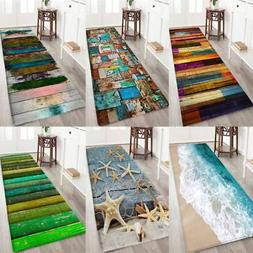 Anti-slip Soft Doormat Flannel Door Mat Kitchen Floor Rug Ba