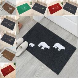 Bath Mats Anti-Slip Absorbent Rubber Back Foot Pad For Kitch