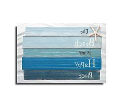 Vandarllin Beach Themed Doormats Rugs-The Beach is My Happy
