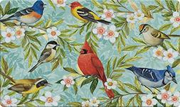 Toland Home Garden Bird Collage 18 x 30 Inch Decorative Floo
