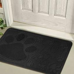 Black Mat Floor Rug Door Welcome Doormat Non-Slip