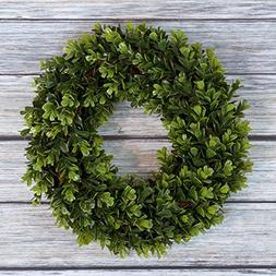 Boxwood Wreath, Artificial Wreath for the Front Door by Pure