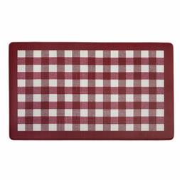 Buffalo Check Decorative Anti-Fatigue Mat, Burgundy-White, 1