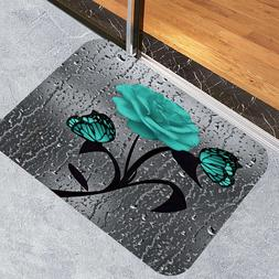 Butterfly Rose Doormat Floor Door Mat Bath Mat Toilet Cover