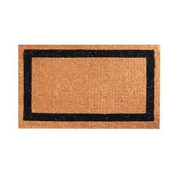 Classic Black Border Coconut Coir Outdoor Entrance Door Mat