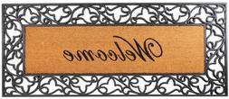 """Classic Style Wrought Iron 24"""" x 57"""" Coco Coir Rubber Outdoo"""