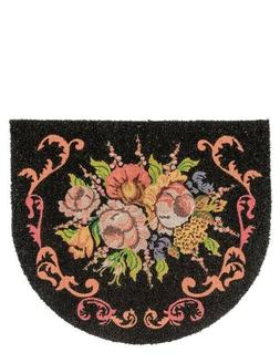 Victorian Trading Co Fall Flora Roses Mums Welcome Mat Coir