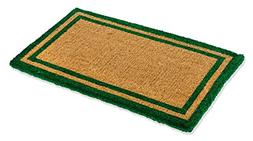Kempf Natural Coco Coir Outdoor Doormats with Green Border K