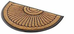 Kempf Coco Fiber Half Round in-Laid Doormat - Style Your Hom