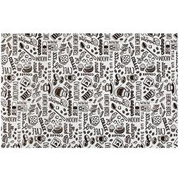 Coffee Java Maker Mat - 12 Inch x 18 Inch for Area Rugs, Run