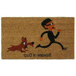 'Beware of Dog' Coir Outdoor Door Mat