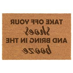 Coir Door Mat Entry Doormat Take Off Your Shoes And Bring In