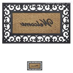 Large Coir Doormat Front Porch Double Door Outdoor Floor Wel
