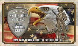 Colorful God Guns & Guts Made America Free Polyester Door Ma