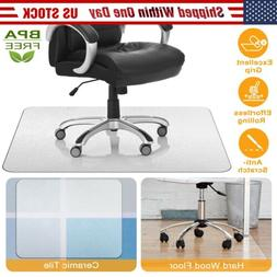 Computer Desk Chair Mat PVC Protector For Hardwood Floor / C