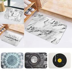 Creative Bathroom Kitchen Door Mat Anti-slip Flannel Floor R