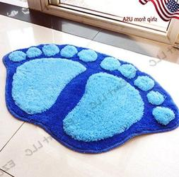 Cute Big Feet Bathroom Absorbent Mats Door Mat Foot Prints F