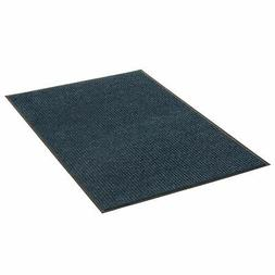 Apache Mills Deep Cleaning Ribbed Entrance Mat, Blue, 48 x 9