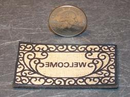 Dollhouse Miniature Rug Welcome Door Mat 1:12 inch scale F56