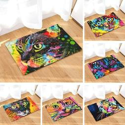 Door Mat Cat Printed Carpet Anti-slip Bath Mat Kitchen Toile