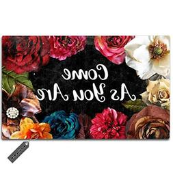 MsMr Door Mat Entrance Floor Mat Come As You are Designed Fu