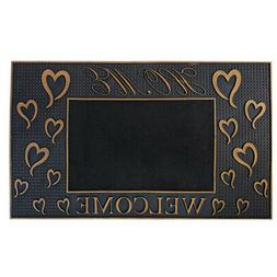 Door Mat Home With Heart Welcome Rubber Utility Indoor Outdo
