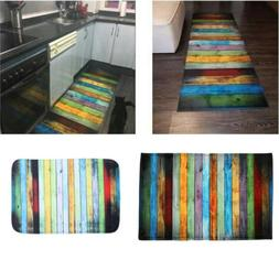 Door Mat Non Slip Color Stripe Welcome Indoor Outdoor Home G