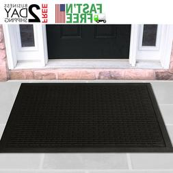 Door Mat Rug Mat Indoor Outdoor Welcome Doormat Black Gold R