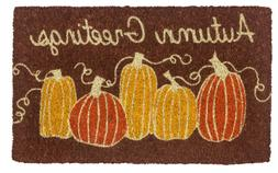 "DOOR MATS - AUTUMN COIR WELCOME MAT - 18"" X 30"" - PUMPKINS C"