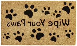 Doormat Kempf Wipe Your Paws Coco Doormat, Rubber Backed Out