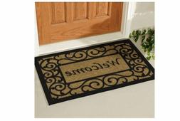 Double Door Outdoor Floor Welcome Mat Heavy Duty Large Coir