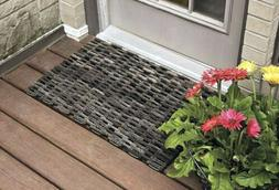 Durable Dura-Rug Recycled Fabric Tire-Link Outdoor Entrance