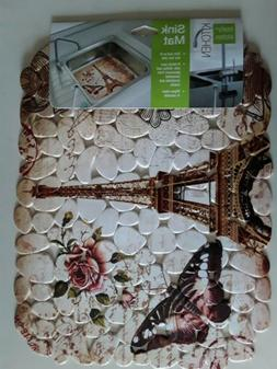 Eifel tower Sink Mat 15.5 x 12.inches