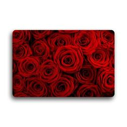 Fantastic Doormat Red Rose Flower Floral Pattern Door Mat Ru