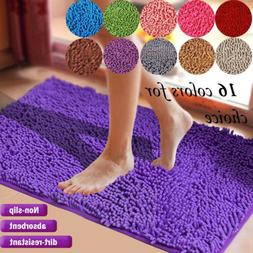 Floor Door Bath Mat Rug Non-Slip Absorbent Shaggy Bathroom R