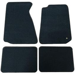 Floor Mats Fits 1994-1998 FORD MUSTANG | Nylon Black Front R